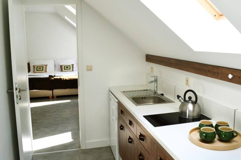 Csikósház - tetőtéri konyha