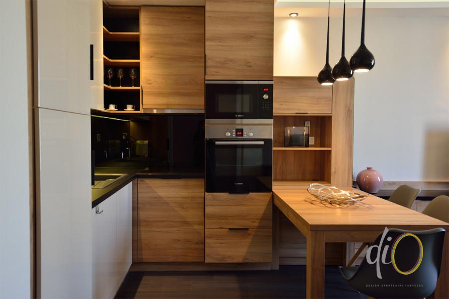 Belvárosi emeletráépítés - konyha