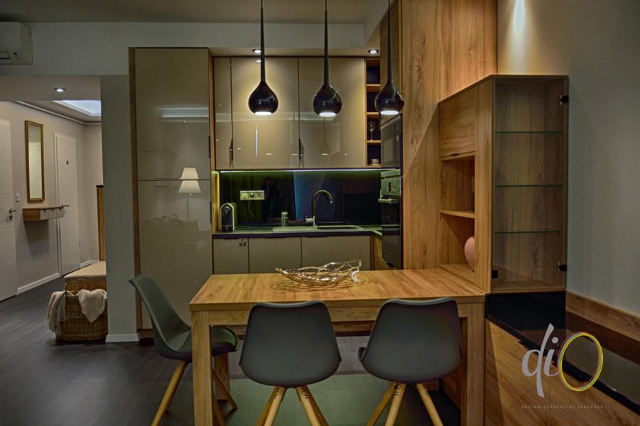 Belvárosi emeletráépítés - konyha-étkező