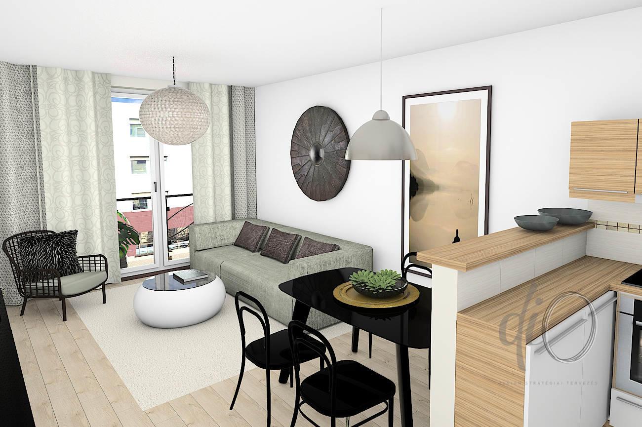Társasházi lakások - látványterv